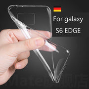200x DHL Free For Galaxy S6 Edge Case Ultra Thin Soft Silicon TPU Clear Phone Case For Samsung Galaxy S6 Edge G9250 Rubber Back