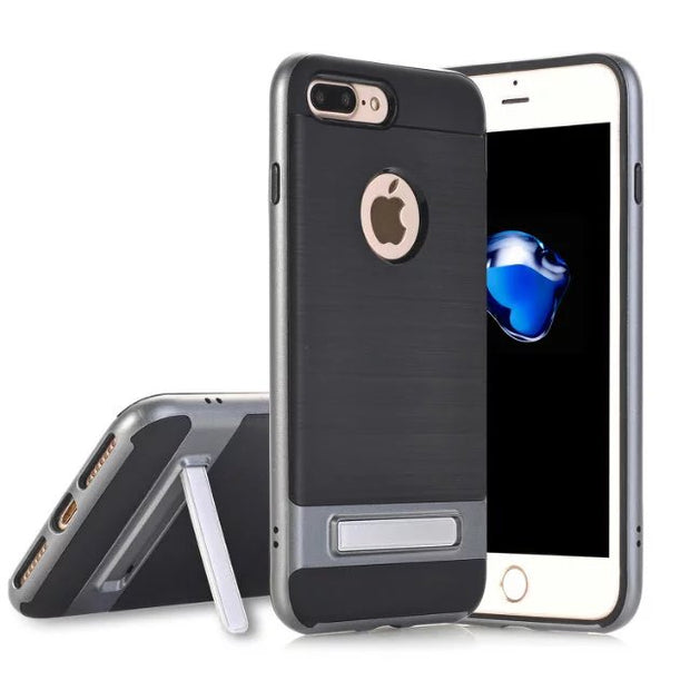 2017 New Cellphone Cases For Apple Iphone 7/7plus,50pcs/lot,carbon Fiber Slim Kickstand Cover For Iphone 7/7plus,free Shipping
