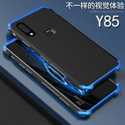 2PCS Cases For Vivo Y85 Case Hard Back PC Metal Bumper Business For Vivoy85 Cover Phone Case For Vivo Y 85 Metal Shell