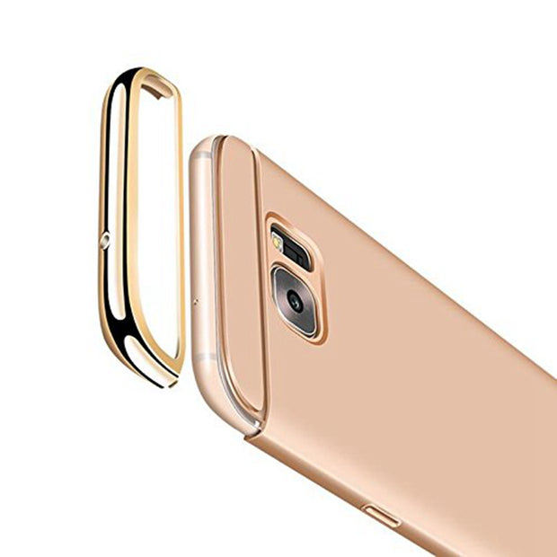 3 In 1 Case For Samsung Galaxy A5 2017 Case Back Cover 360 Degree Protection Ultra Thin Slim For Samsung A5 2017 SM-A520F Gold