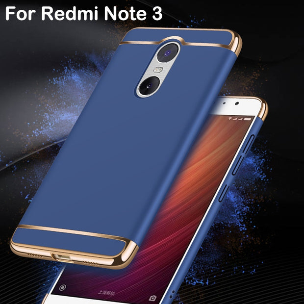 3 In 1 Case For Xiaomi Redmi Note 3 Case Hard Plastic Back Cover 360 Degree Protection Slim Removable For Hongmi Note 3 Case