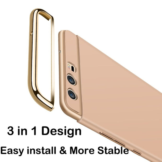 3 In 1 For Huawei Ascend P10 Lite 5.2 Luxury 360 Degree Protect Hard Back Cover Ultra Thin For Huawei P10 Lite P10 Plus Cover