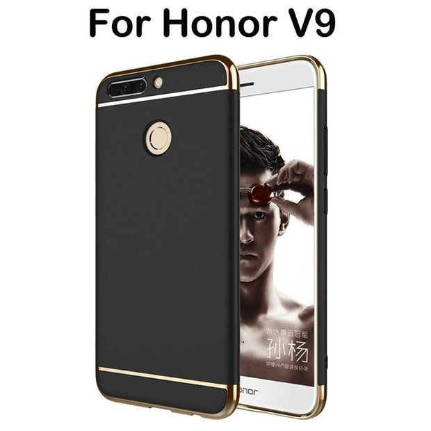3 In 1 Fundas For Huawei Honor V9 Case 5.7 Huawei Honor V8 Pro Case Hard Back Cover 360 Degree Protection Ultra Thin Slim Women