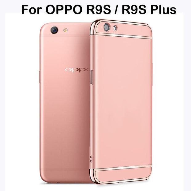 3 In 1 Hard PC Back Cover Case For OPPO R9S Plus Case 360 Degree Protection Anti-knock Ultra Thin Slim For OPPO R9S Case Luxury