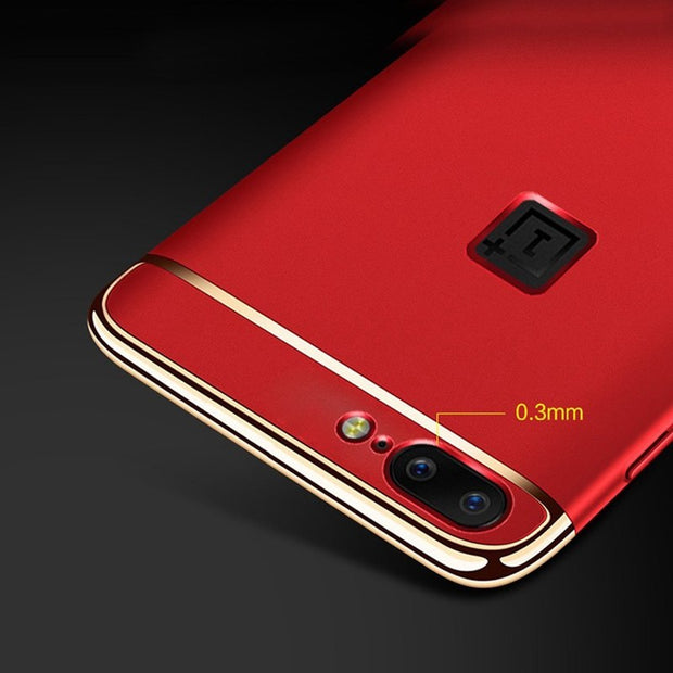 3 In 1 Luxury Original Case For One Plus 5 Case Hard Back Cover 360 Degree Protection Ultra Thin Slim For OnePlus Case 5.5 Inch