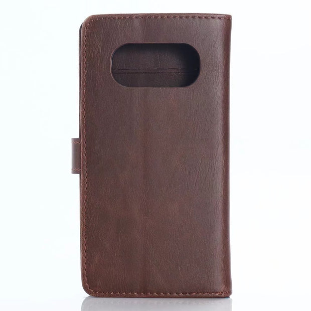 30pcs/lot 3 Card Slots Book Style Crazy Horse Retro Leather Case With Stand For Kyocera Torque G03