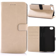 30pcs/lot 3 Card Slots Book Style Vintage Crazy Horse Leather Case With Stand For Sharp Aquos R