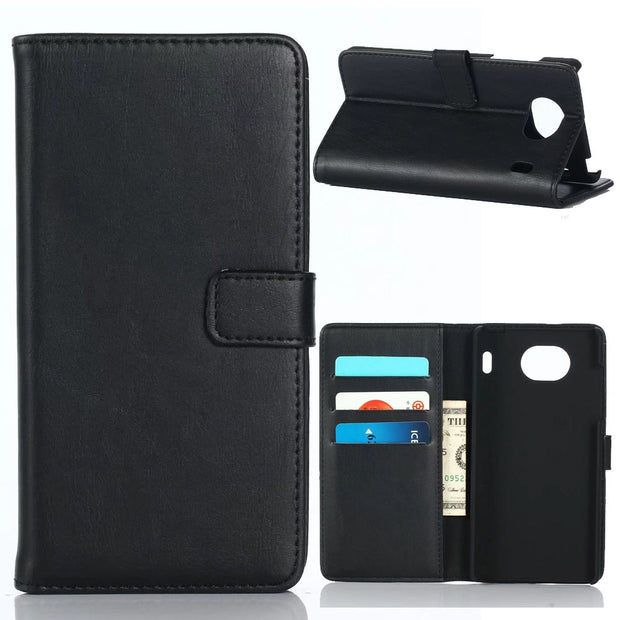 30pcs/lot 3 Card Slots Stand Vintage Crazy Horse Wallet Leather Case For Kyocera Qua Phone QX