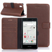 30pcs/lot Book Style Vintage Crazy Horse Leather Case With 3 Card Slots For ZTE MONO MO-01J