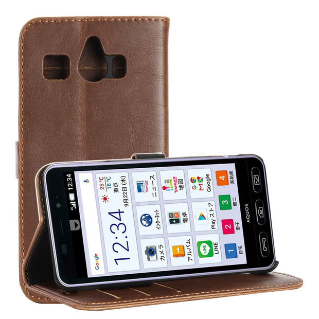 30pcs/lot For Sharp SH-02J Case Luxury Retro Crazy Horse Leather Case With Stand For Sharp 509sh