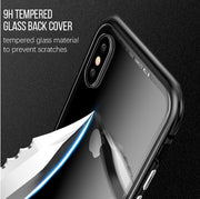 360 Full Protect For IPhone X Case Protective Metal Cover With Tempered Glass For IPhone 6 7 8 Magnetic Frame For IPhone 6S Plus