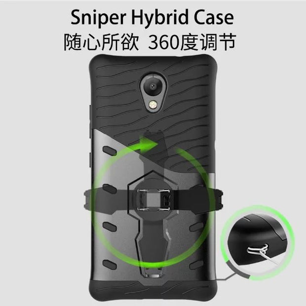 360 Rotating Kickstand Slim Shock Proof 2 In 1 PC TPU Back Cover Case For Lenovo Vibe P2 Hybrid Combo Case For Lenovo P2
