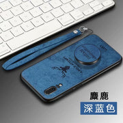 3D Cartoon Elk Cover Rugged TPU Case For Huawei P10 Plus P20 Lite Nova 3E Original Lanyard+ Car Magnetic Holder