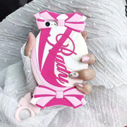3D Fancy Name Pink Candy Sweetie Drop-proof Silicone Soft Full Cover Phone Case Capa For IPhoneX 6s/8 7plus Shell Protection