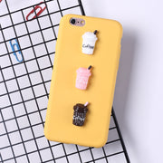 3D Kawaii Candy Color DIY Baby Bottle Coffee Soft Silicon Case For Iphone X Xs 8 7 6 S 6s Plus 7plus 8plus Phone Case Cute Cover