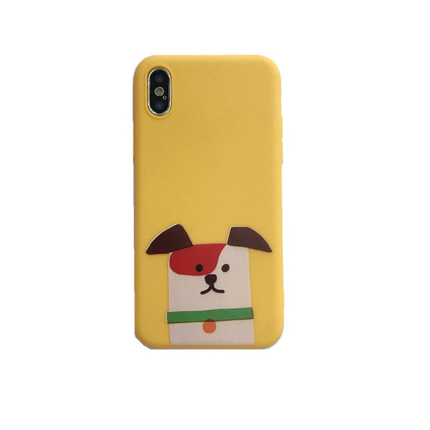 3D Kawaii Dog Case For Huawei Nova 2s 3 P20 Honor 9 Mate 10 Pro V9 V10 P9 P10 Silicon Phone Cases Couple Back Cover Wholesale