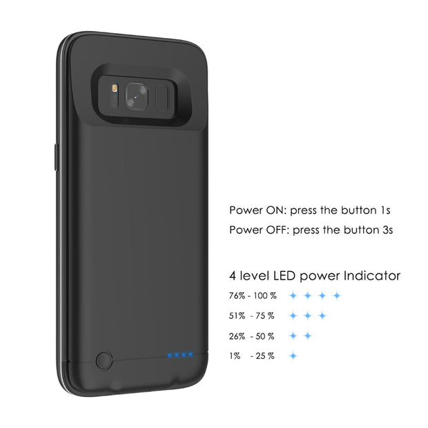 new concept 1d26e 9b243 4200mAh Power Bank Battery Charger Case For Samsung Galaxy S8 Case Power  Bank Rechargeable External Backup Charger Phone Case