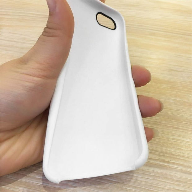 5 Pcs White Protective Case Solid Color Imitation Liquid Silica Soft Shell Mobile Phone Cover Smartphone Case For IPhone 6/6s
