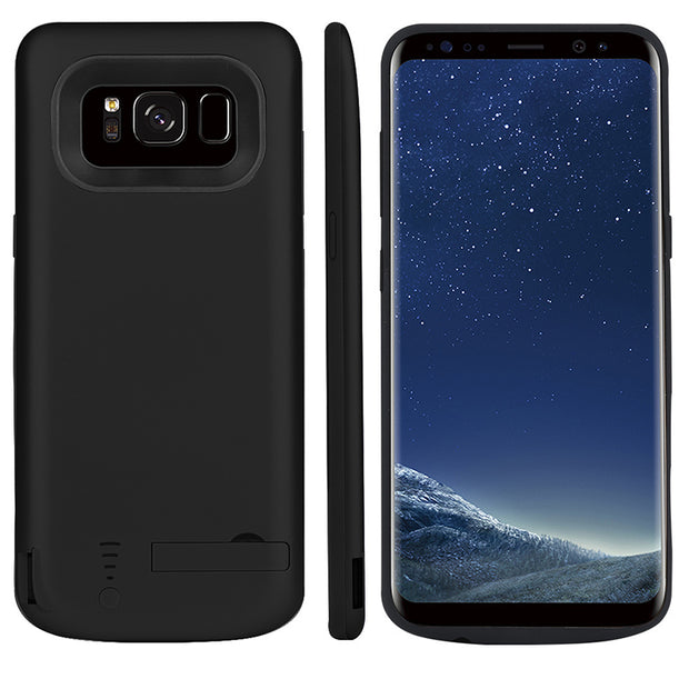 buy online 9cf07 284ed 5000/6500mAh Portable Battery Charger Case For Samsung Galaxy S8 Charging  Power Bank Phone Case Cover For Samsung S8 Plus
