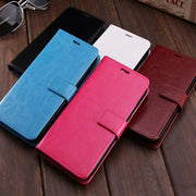 50pcs Crazy Horse Leather Wallet PU+TPU Case For IPHONE Series 7/7 Plus/5/5S/6/6S/6 Plus/x Leather Case