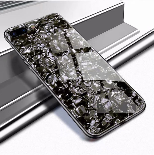 50pcs DHL Luxury Tempered Glass Case For IPhone X XS MAX XR Hard Back Shell Soft TPU Bumper Phone Case For IPhone 8 7 6 6S Plus
