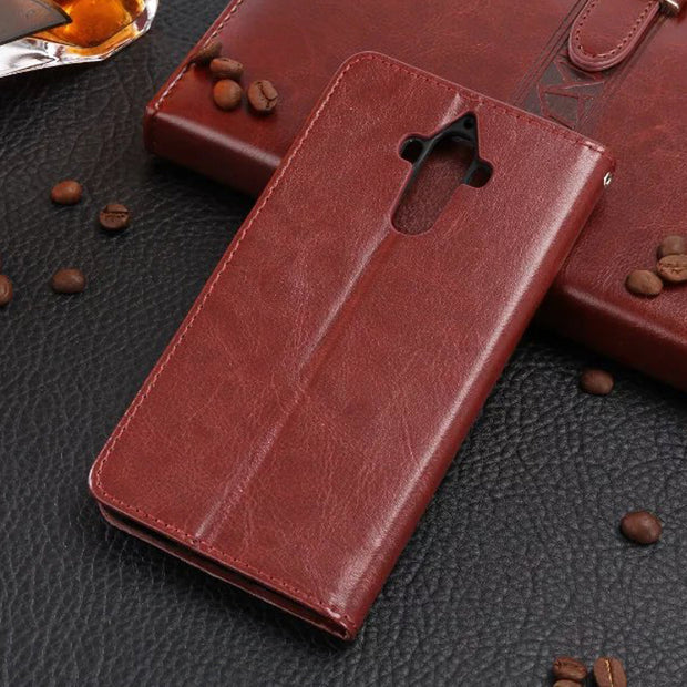 50pcs For Huawei P8/P8 LITE/P9/P9 LITE/P9 PLUS Leather Case Crazy Horse Leather Wallet PU+TPU Case