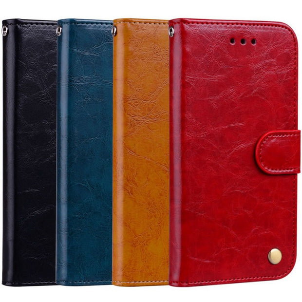50pcs Leather Case For Huawei Honor 7C AUM-L41 Russia 5.7 Inch Flip Wallet Case On For Honor 7C Pro LND-L29 Global 5.99""