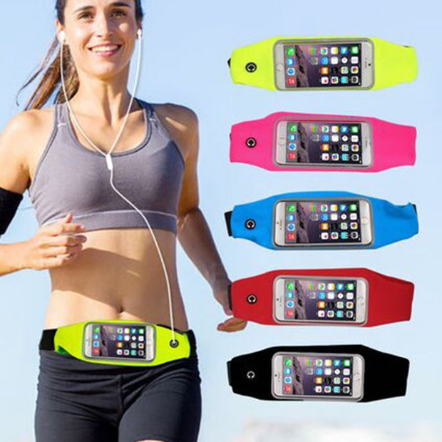 50pcs Waterproof Running Sport Waist Bag Pockets Running Belt Pouch Case For Iphone 6 6s Plus For Samsung Galaxy S6 S7 Edge