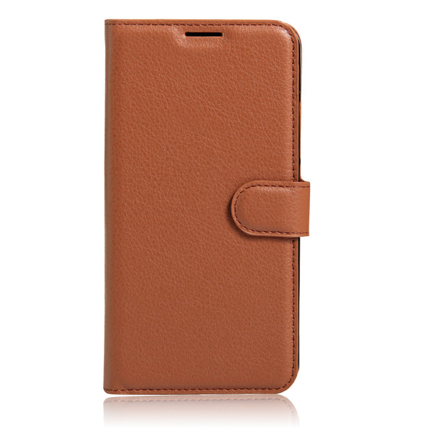 50pcs/lot Litchi Pattern Flip Magnetic PU Leather Wallet Stand Case For Samsung J1 Mini Prime J106 Lychee Grain Cover