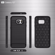 50pcs/lot,Phone Cases For Samsung Galaxy S7,carbon Fiber Armor TPU Protective Cover For Galaxy S7,5.1 Inch ,free Shipping
