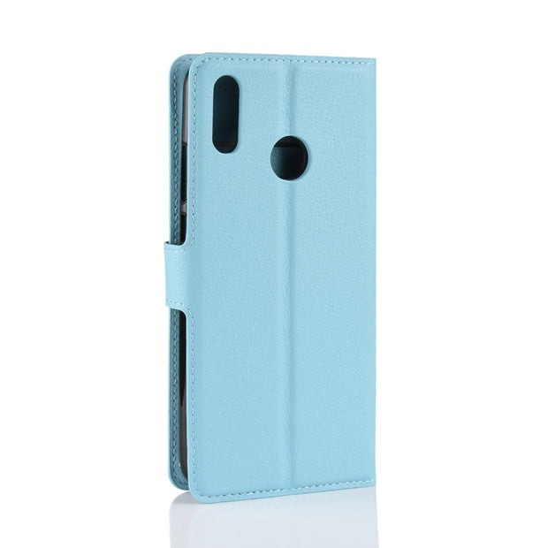 50pcs/lot For Huawei Y9 2019 Lychee Litchi Wallet Leather Cover Case For Huawei Honor 8C Enjoy 9 Y7 Prime Pro 2019