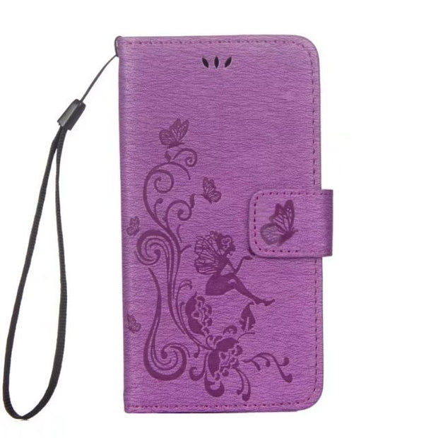 50pcs/lot Free Shipping Butterfly Girl Wallet Leather Case For Samsung S8/S8 PLUS/S7/S7 EDGE/S6/S6 EDGE/S5 MINI/J5 2016/J3 2016