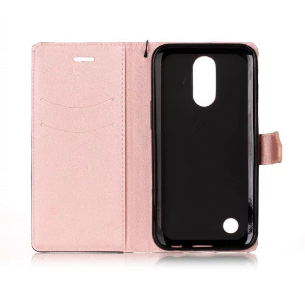 50pcs/lot Free Shipping Double Color Wallet Leather + Tpu Case For LG Stylo 3/K3 2017/K4 2017/K10 2017/G6/V20/K7/K10/LS775