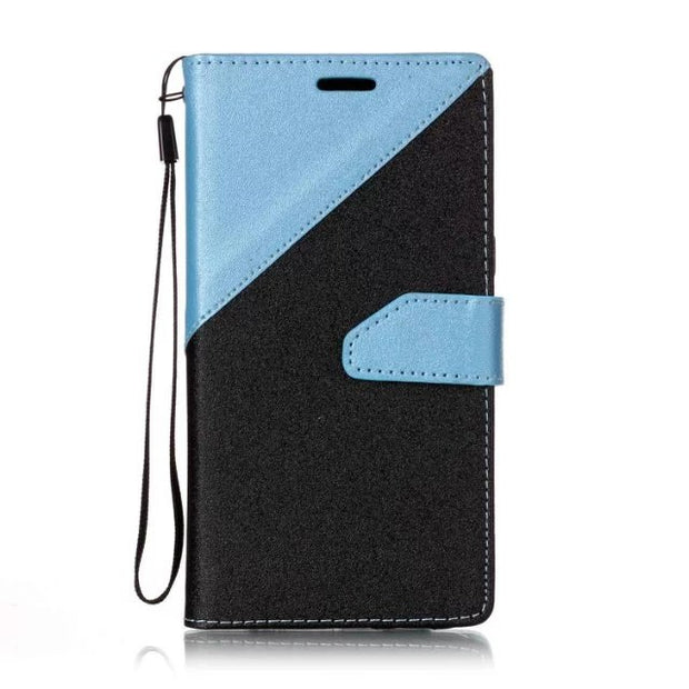 50pcs/lot Free Shipping Double Color Wallet Leather + Tpu Case For Samsung S8/S8 PLUS/J5 Prime/J7 Prime/J1 Mini Prime/S4/S6/S7