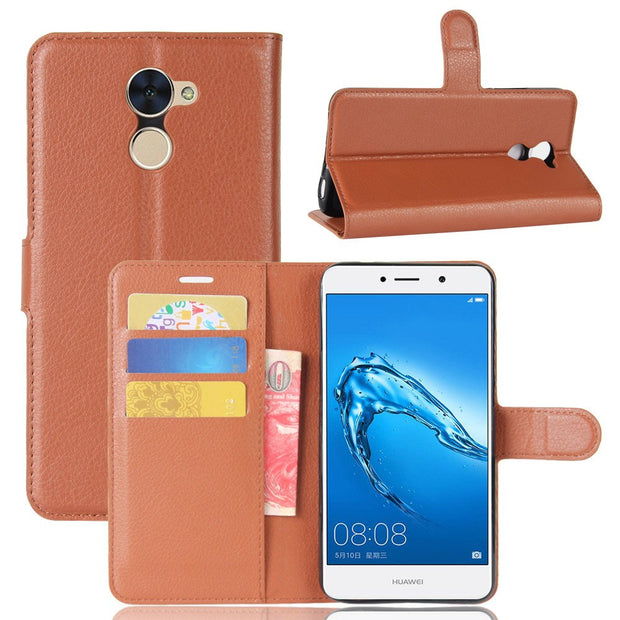 50pcs/lot Free Shipping Litchi Grain Wallet Leather Case For Huawei P8 Lite/Enjoy 7 Plus/Y7 Prime/Y5 2017/Y3 2017/Y7/NOVA PLUS