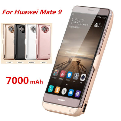 7000mAh Ultra Thin Portable Backup Power Bank Rechargeable Cases External Battery Charger Case For Huawei Mate 9 Powerbank Case