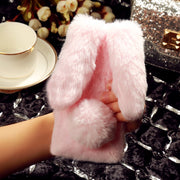 AKABEILA Fitted Cases For China Mobile A3S Case M653 CMCC 5.2 Inch Rabbit Hair Fur Cover Soft Silicone Stylish TPU Bags