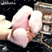 AKABEILA Fitted Cases For ZTE Blade V9 Case 5.7 Inch Rabbit Hair Cover Soft Silicone Stylish For ZTE V9 Bags