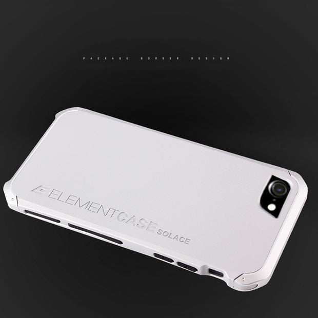 Anti-fall Metal Frame Plastic Back For Apple IPhone 8 Aluminum Alloy Mobile IPhone8 Bumper Case Cover