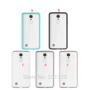 Anti-knock TPU Acrylic Soft Case For LG Stylo 3 Aristo Metropcs LV3 MS210 K8 2017 Samsung Galaxy J3 Emerge 2017 Skin Cover 50pcs