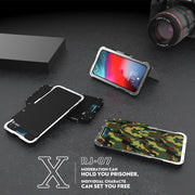 Armor For Apple IPhone X Metal Flip Case Hard Cover For IPhone XR XS Max Plastic Shell Shockproof Kickstand Stainless 304 Slim