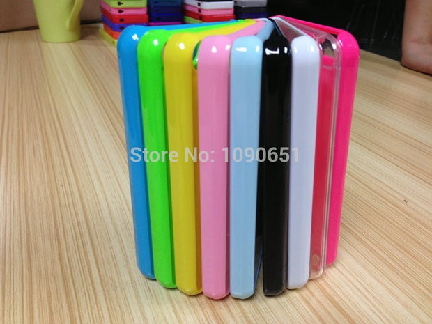 Blank Sublimation I5c Plastic PC Phone Cases Cover With White Metal Insert Sheet For IPhone 5C Heat Press Transfer
