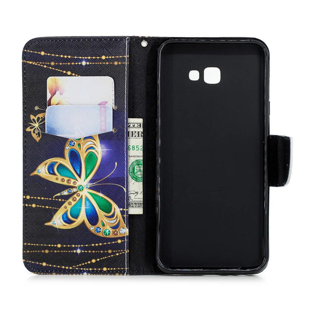 Booklet Case For SAMSUNG Galaxy J4+ Plus 2018 PU Leather Covers J4Plus 2018 32GB 16GB TPU Cases Wallet Bags Slicone Mens Womans