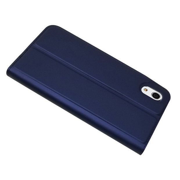 Bosilang Magnetic Stand Glossy Leather Simple Business Super Thin Anti-dorp Mobile Phone Casing Cover For Sharp Android One S4