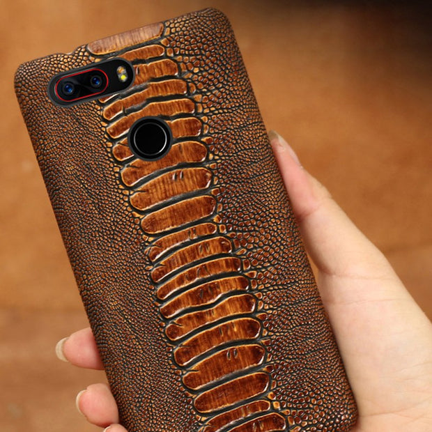 Brand Genuine Leather Phone Case For Nubia Z17 Cowhide Ostrich Foot Texture Phone Case Custom Made Mobile Phone Back Cover