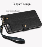 Brand Business Phone Case For Nokia 7 Plus Genuine Leather Flip Phone Case For Huawei Series Drop Protection Cover