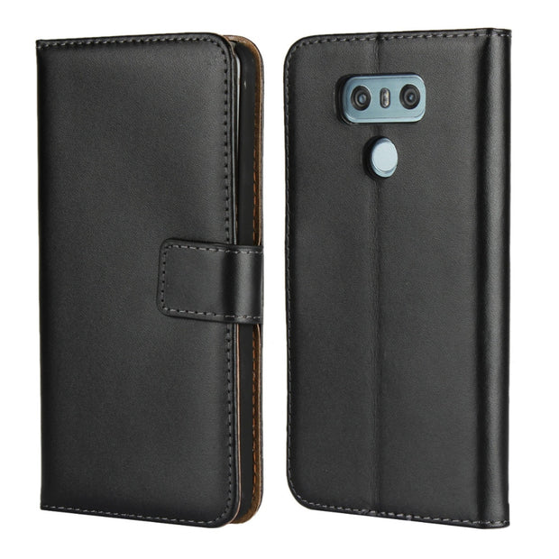 reputable site 2964c 8f45c Brand Gligle Genuine Leather Case Cover For LG G6 Case Protective Wallet  Shell
