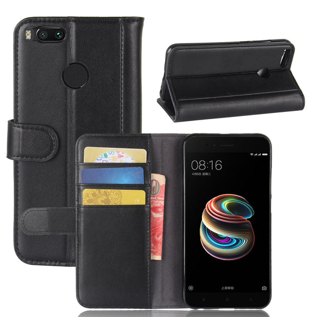 best website ec104 f1a9a Brand Gligle Real Genuine Leather Wallet Case Cover For Xiaomi Mi 5X / Mi  A1 Case Protective Shell Bags