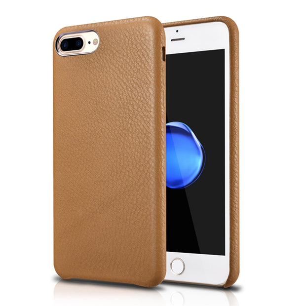 low priced 2aa8c 32bf5 Brown Original XOOMZ Original Litchi Genuine Leather Case For IPhone 7  Plus/8 Plus Fashion Ultra Thin Back Cover (A0094)