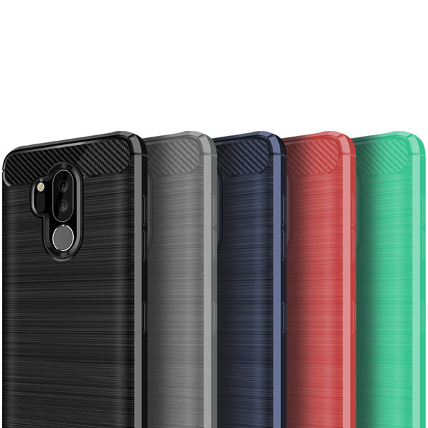 huge discount b0e71 e26df Brushed Tpu Case For LG G7 ThinQ Case Decorated Carbon Fiber Case For LG G7  ThinQ Back Cover Phone Bag Shell 50pcs/lot (XP0418)